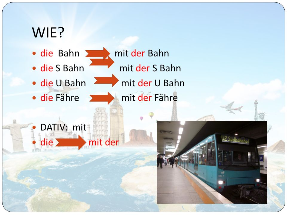 WIE die Bahn mit der Bahn die S Bahn mit der S Bahn