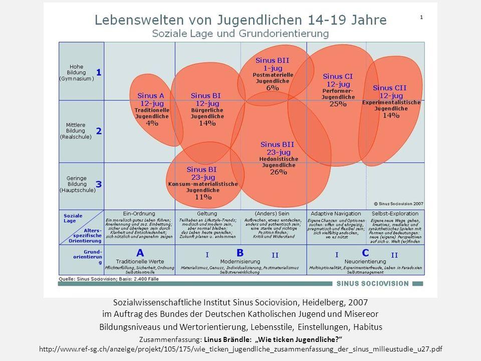 Sozialwissenschaftliche Institut Sinus Sociovision, Heidelberg, 2007