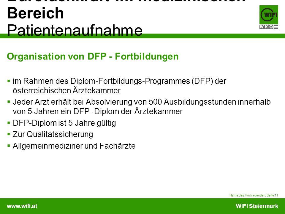 Organisation von DFP - Fortbildungen