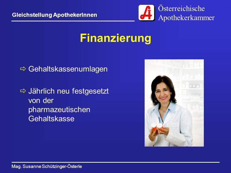 Finanzierung Gehaltskassenumlagen