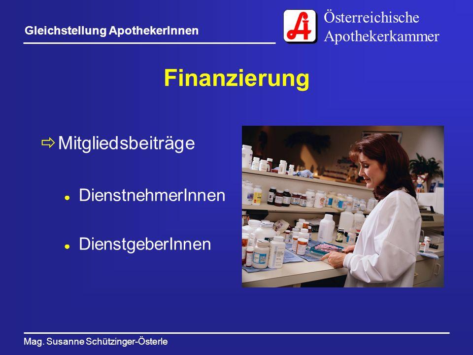 Finanzierung Mitgliedsbeiträge DienstnehmerInnen DienstgeberInnen