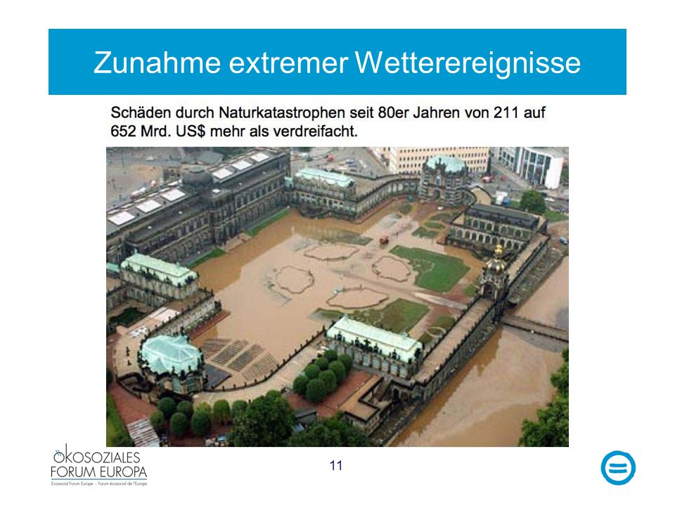 Zunahme extremer Wetterereignisse