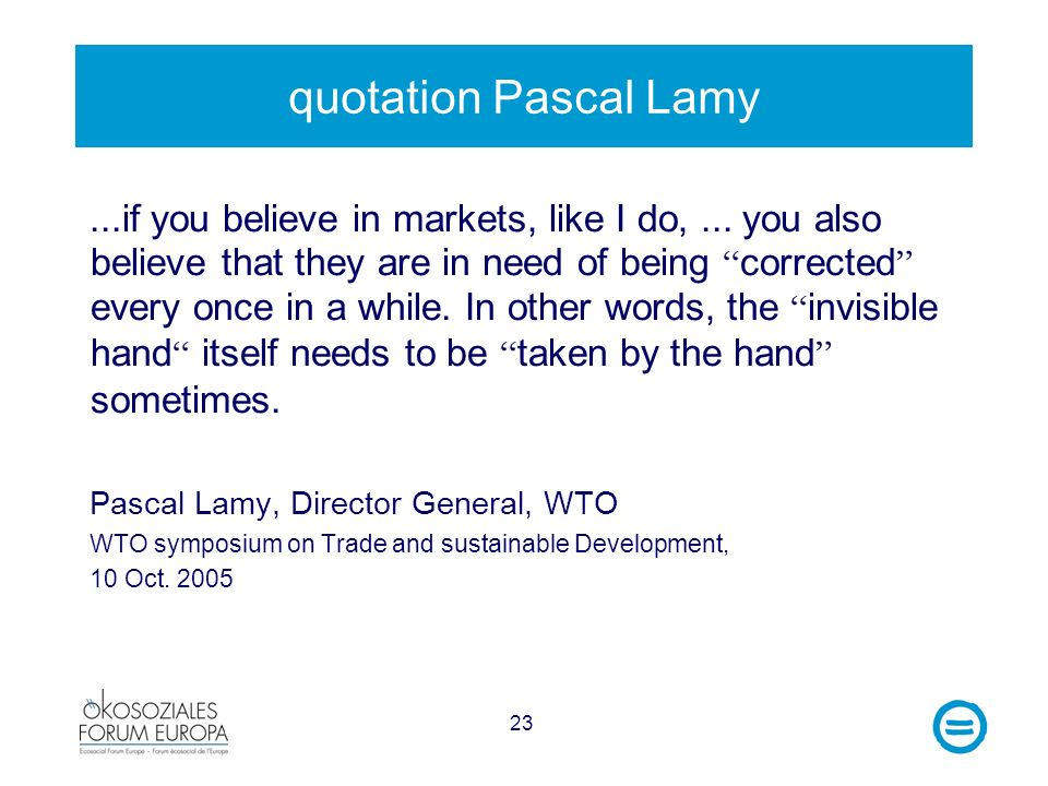 quotation Pascal Lamy