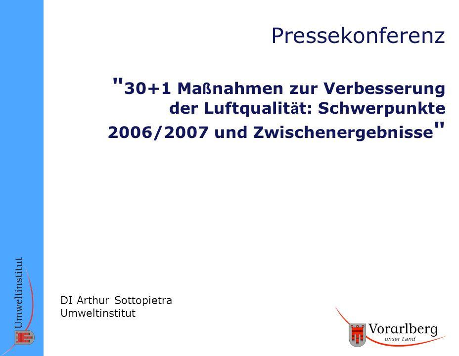 Pressekonferenz 30+1 Maßnahmen zur Verbesserung der Luftqualität: Schwerpunkte 2006/2007 und Zwischenergebnisse