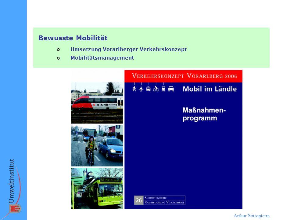 Bewusste Mobilität Umsetzung Vorarlberger Verkehrskonzept
