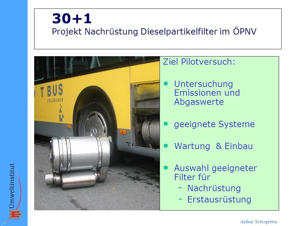 30+1 Projekt Nachrüstung Dieselpartikelfilter im ÖPNV