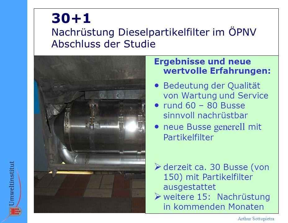 30+1 Nachrüstung Dieselpartikelfilter im ÖPNV Abschluss der Studie
