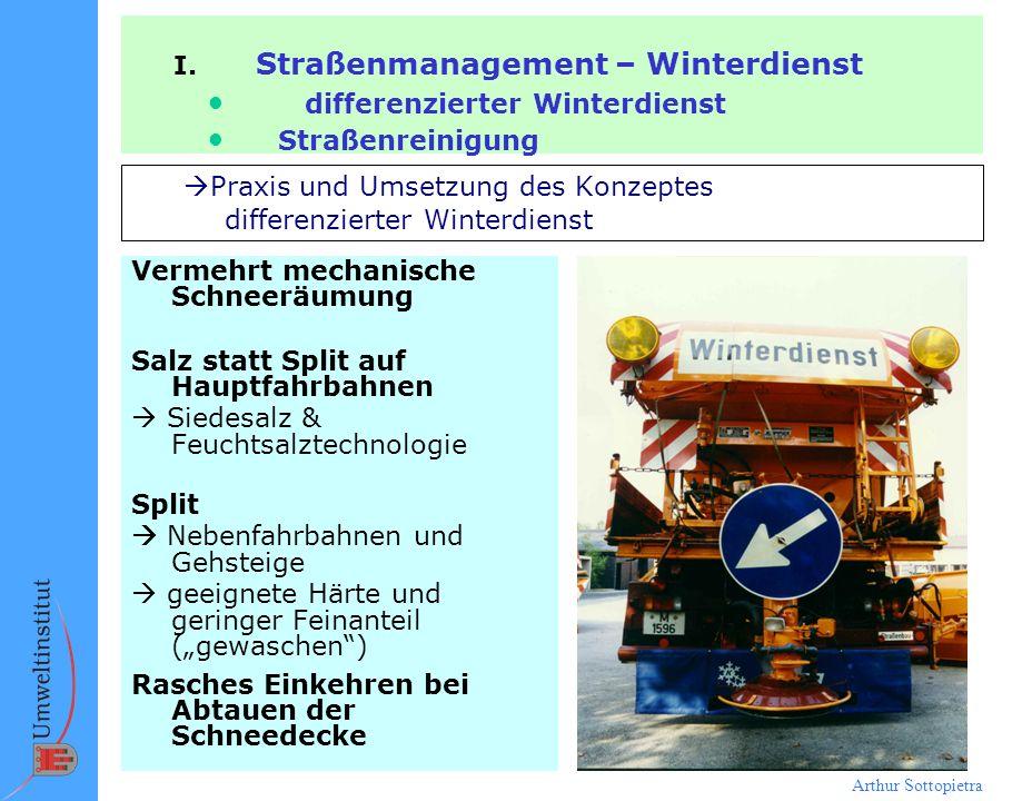 Praxis und Umsetzung des Konzeptes differenzierter Winterdienst