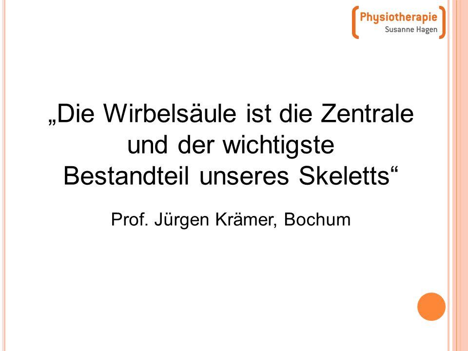 Prof. Jürgen Krämer, Bochum