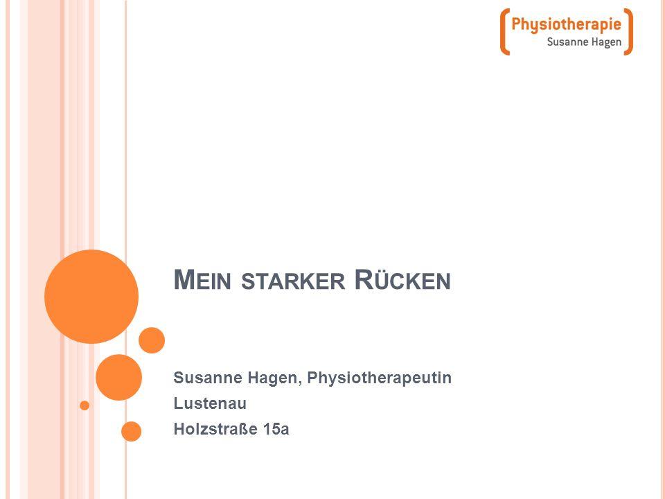 Susanne Hagen, Physiotherapeutin Lustenau Holzstraße 15a