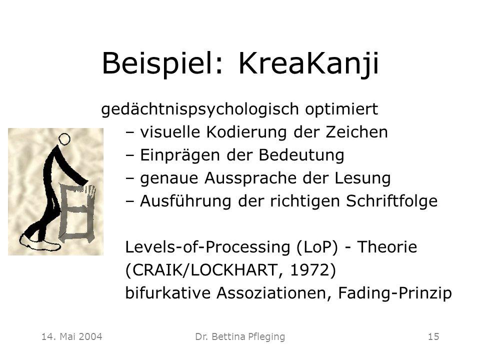Beispiel: KreaKanji gedächtnispsychologisch optimiert