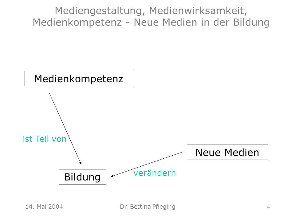 Mediengestaltung, Medienwirksamkeit, Medienkompetenz - Neue Medien in der Bildung