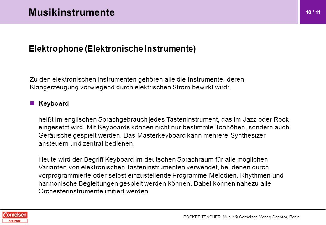 Musikinstrumente Elektrophone (Elektronische Instrumente)