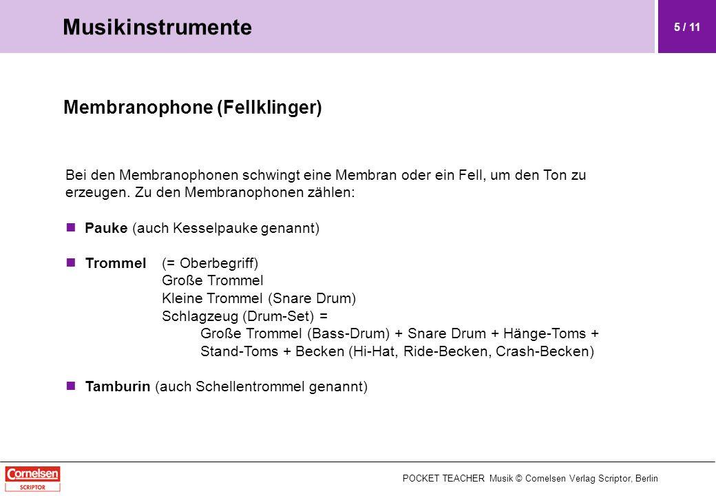 Musikinstrumente Membranophone (Fellklinger)