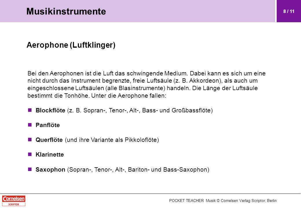 Musikinstrumente Aerophone (Luftklinger)