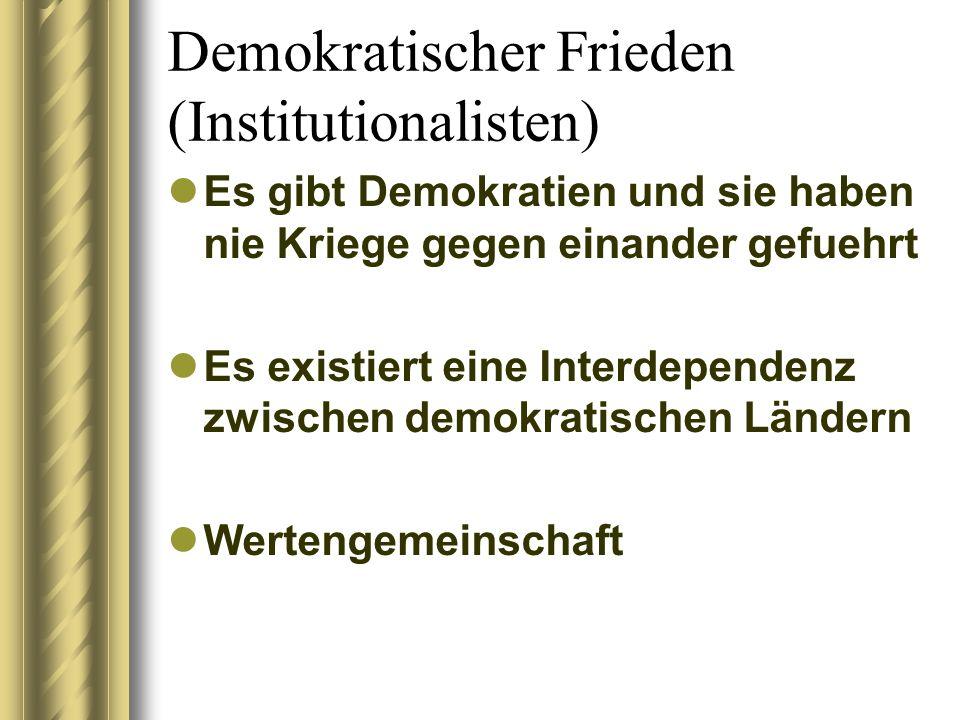 Demokratischer Frieden (Institutionalisten)