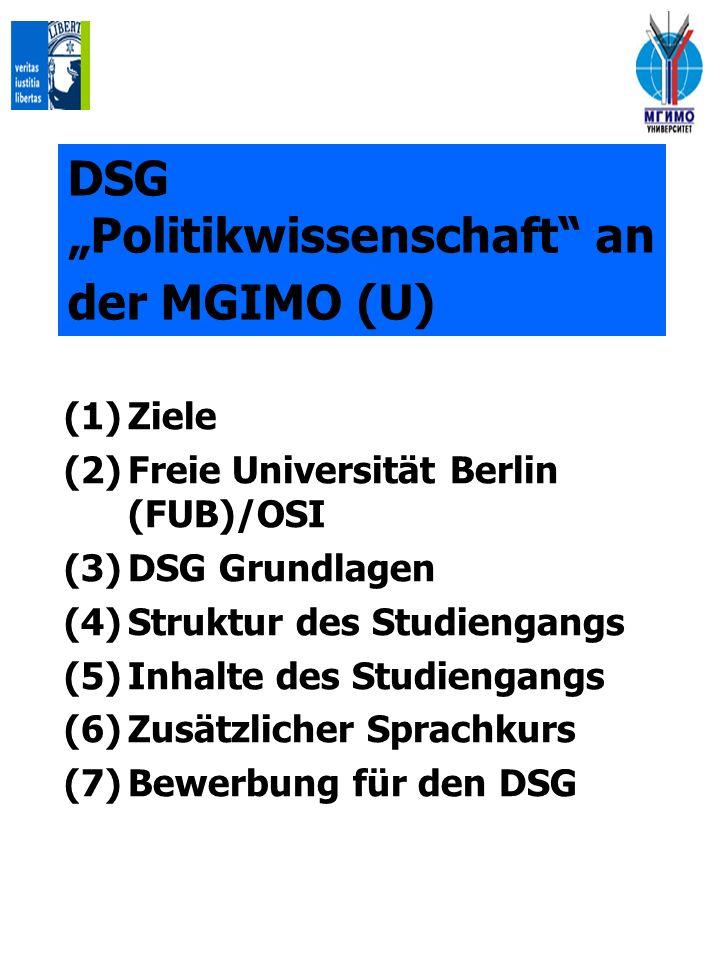 """DSG """"Politikwissenschaft an der MGIMO (U)"""