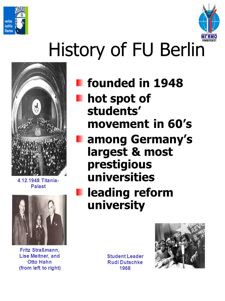 History of FU Berlin founded in 1948