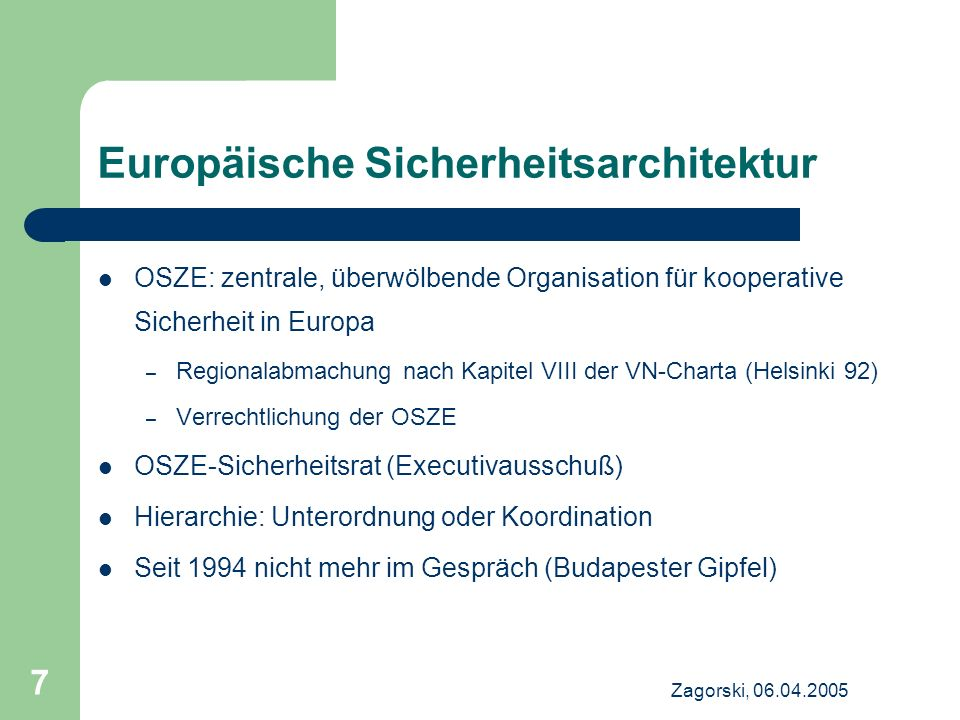 Europäische Sicherheitsarchitektur