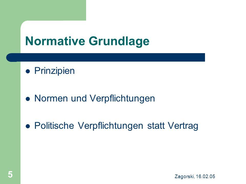 Normative Grundlage Prinzipien Normen und Verpflichtungen