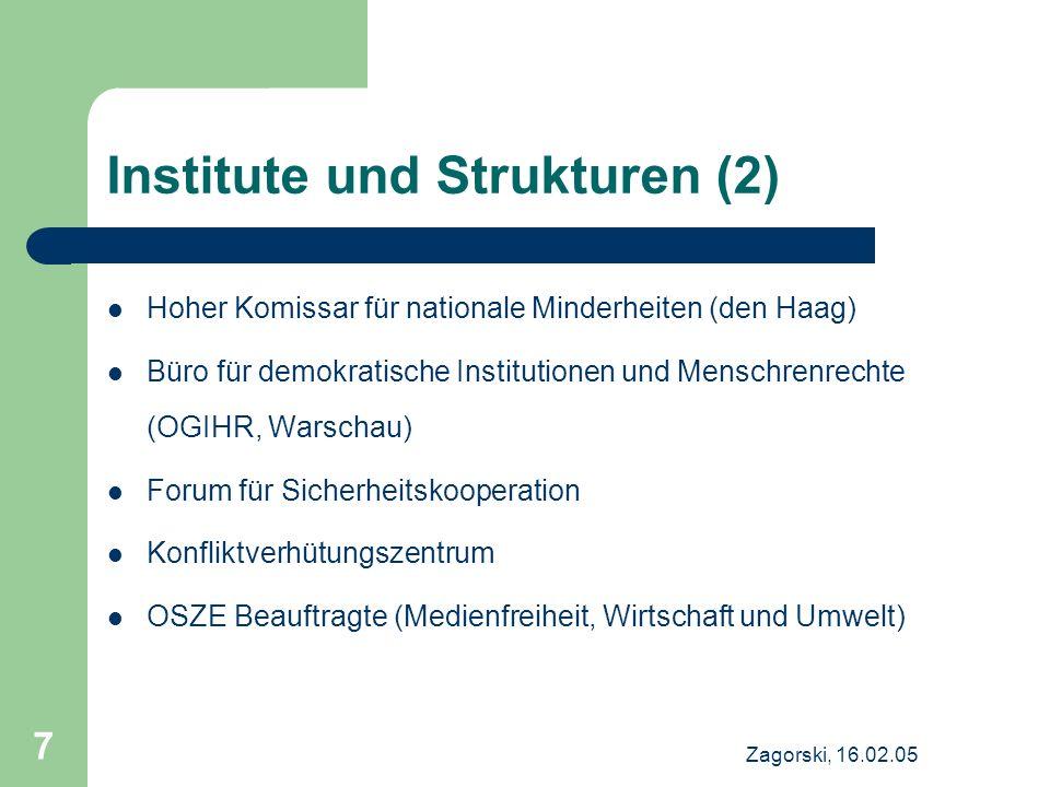 Institute und Strukturen (2)