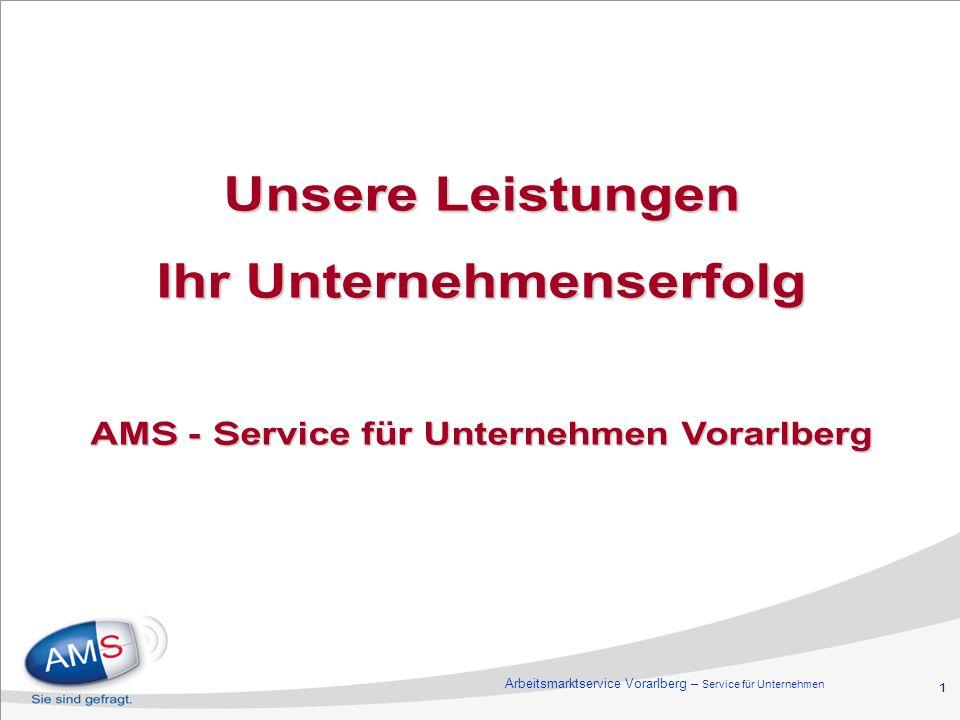 Ihr Unternehmenserfolg AMS - Service für Unternehmen Vorarlberg