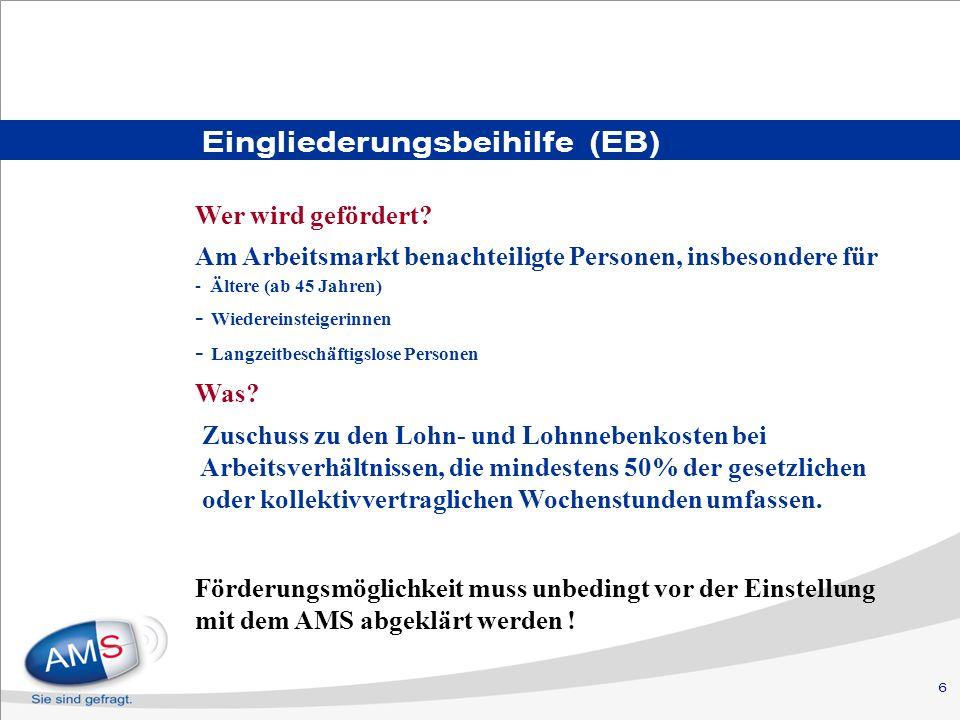 Eingliederungsbeihilfe (EB)