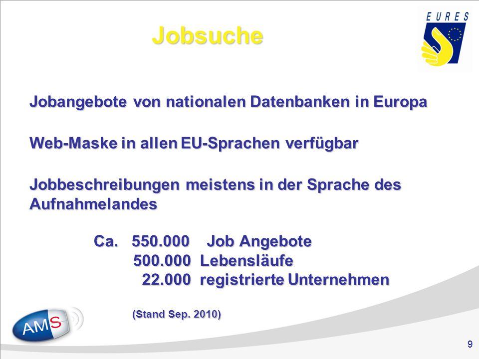 EURES Homepage http://ec.europa.eu/eures
