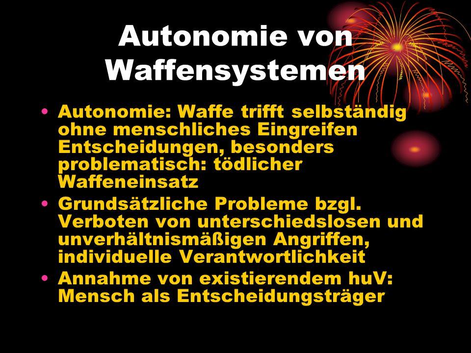 Autonomie von Waffensystemen
