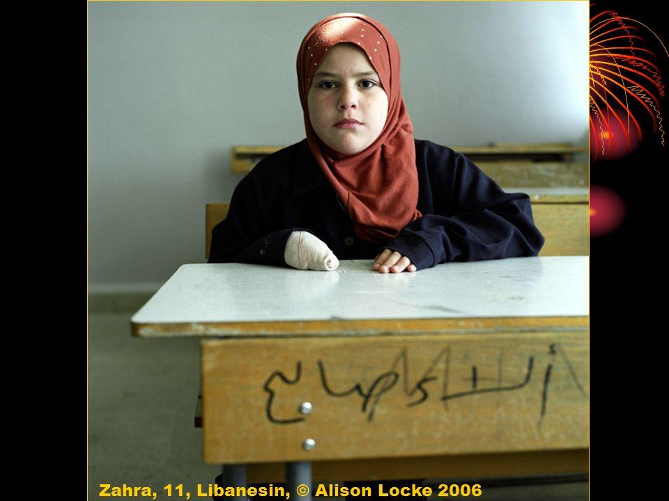 Zahra, 11, Libanesin, © Alison Locke 2006