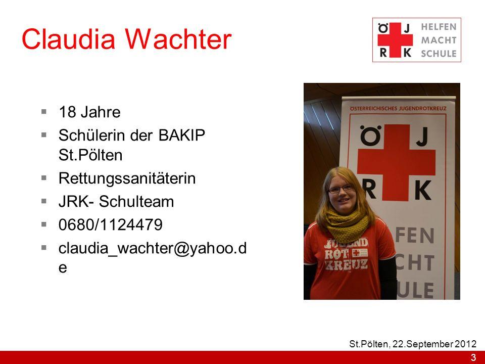 Claudia Wachter 18 Jahre Schülerin der BAKIP St.Pölten