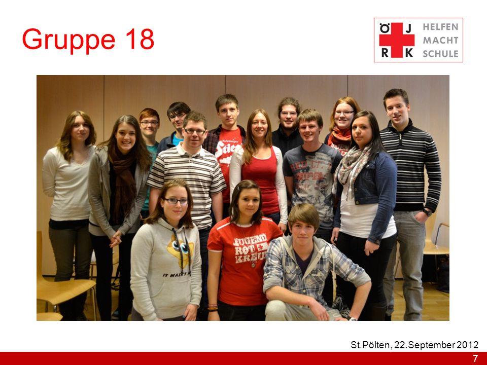 Gruppe 18 St.Pölten, 22.September 2012