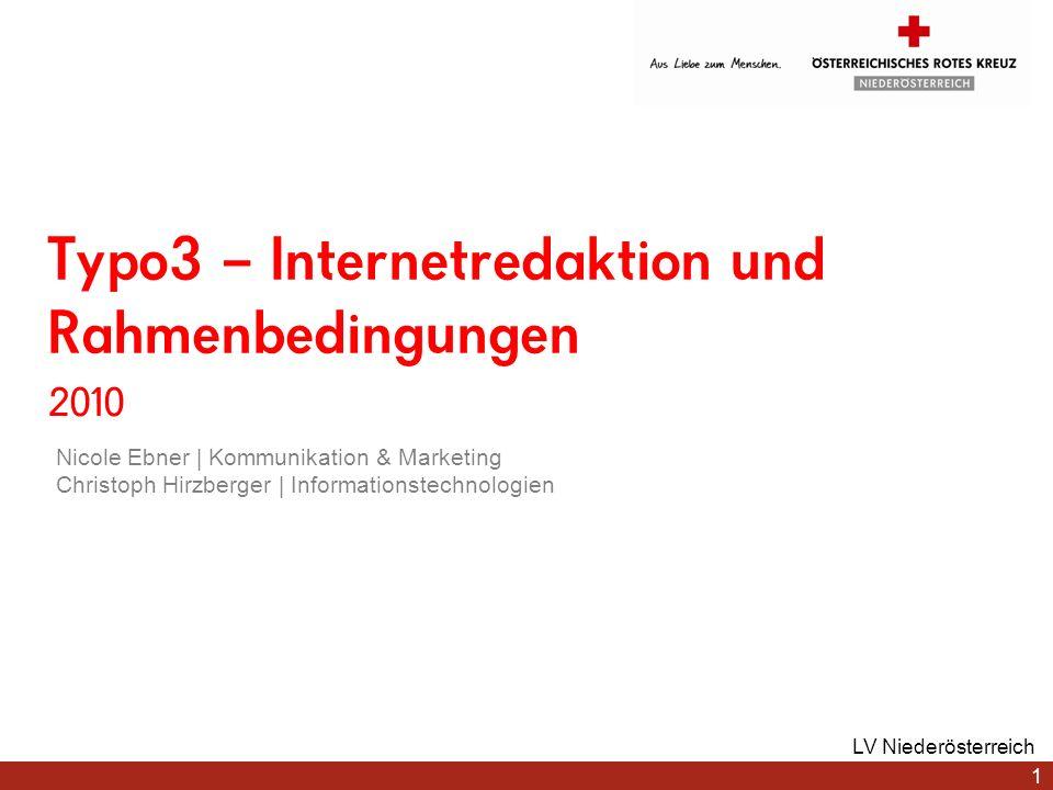 Typo3 – Internetredaktion und Rahmenbedingungen