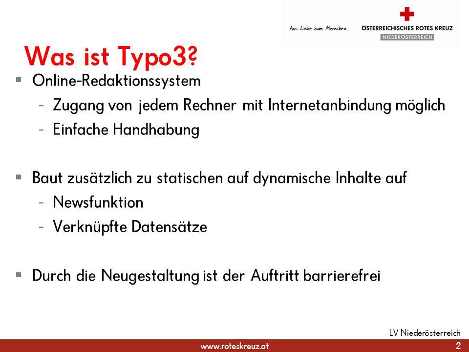 Was ist Typo3 Online-Redaktionssystem