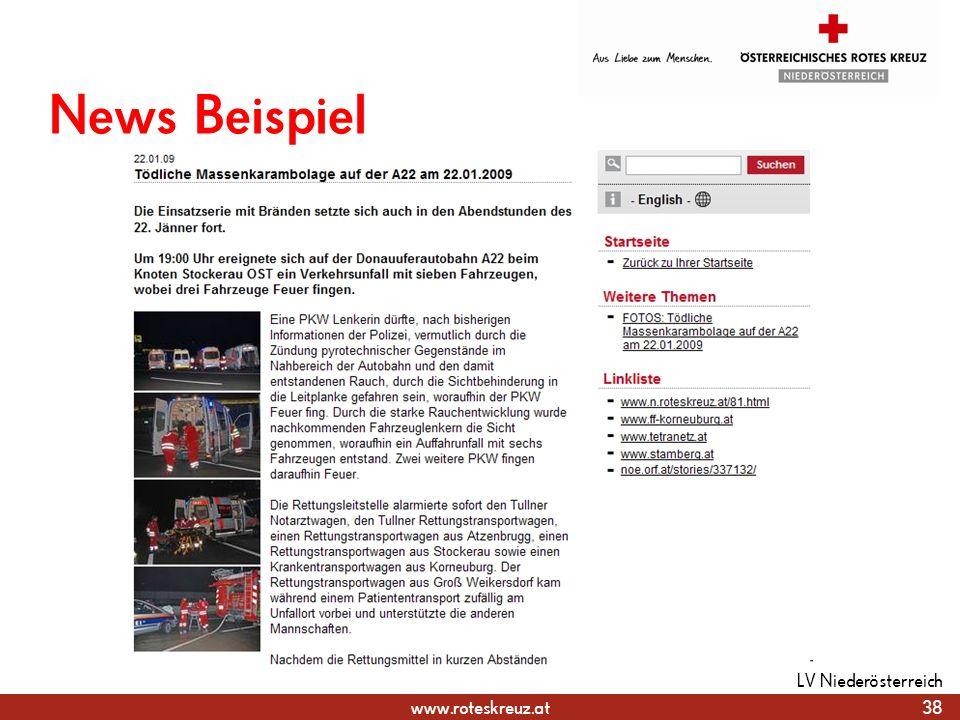 News Beispiel LV Niederösterreich