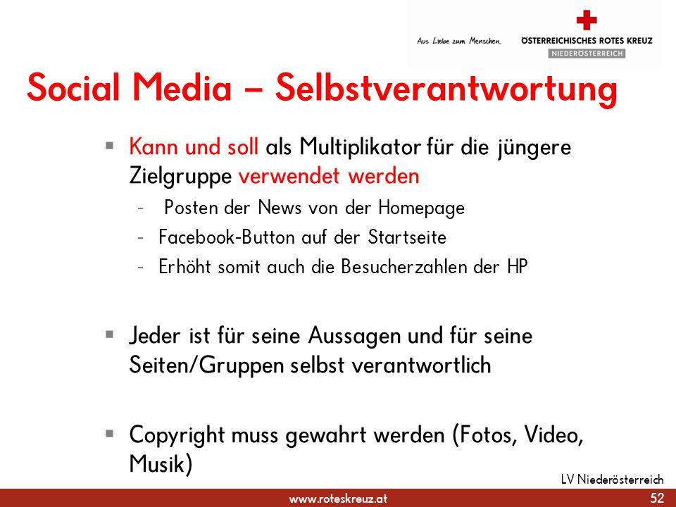 Social Media – Selbstverantwortung