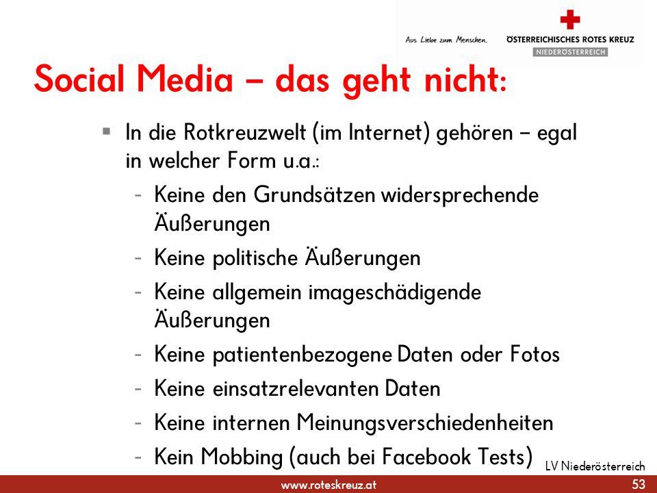 Social Media – das geht nicht: