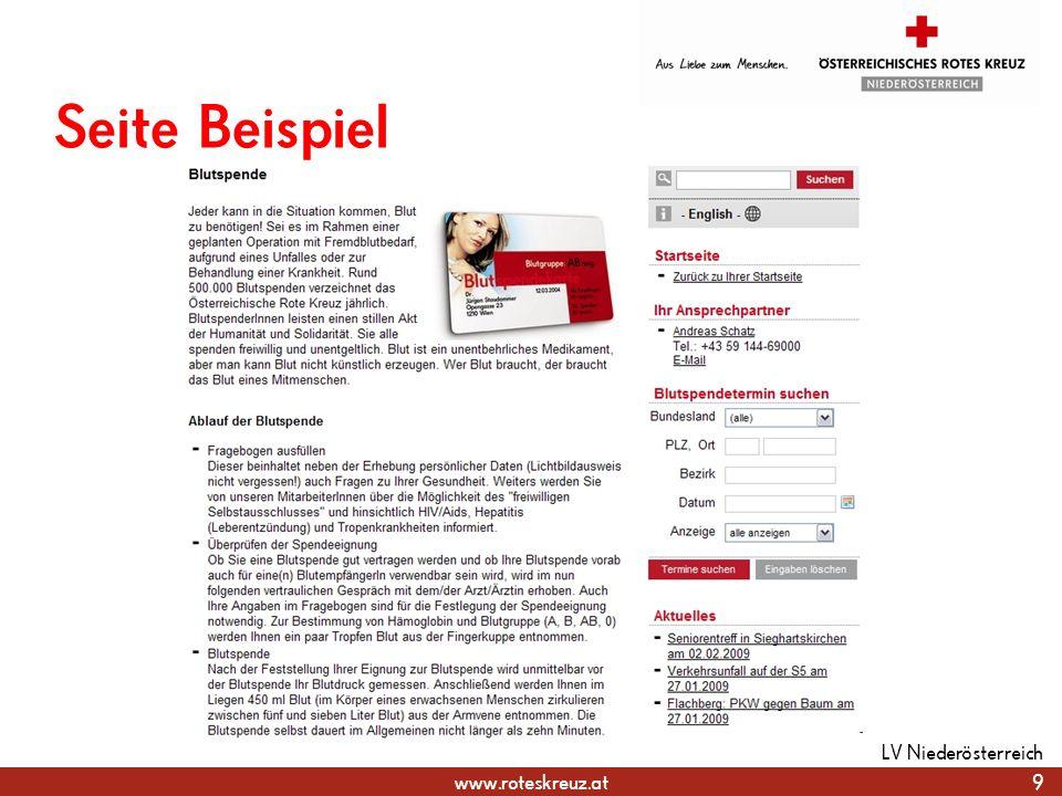 Seite Beispiel LV Niederösterreich