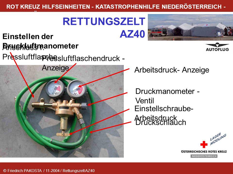 Einstellen der Druckluftmanometer