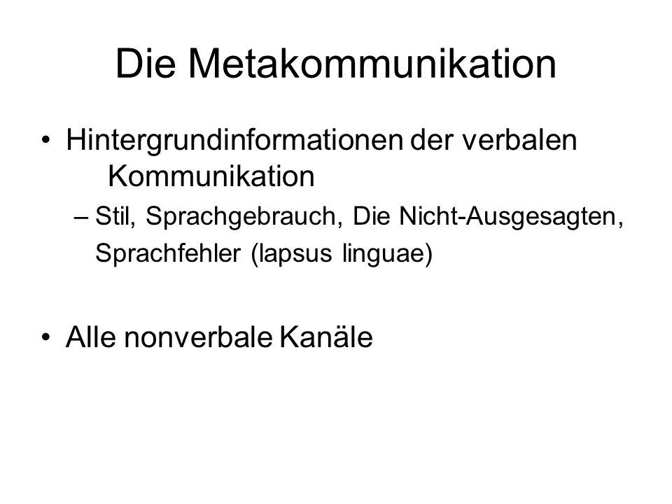 Die Metakommunikation