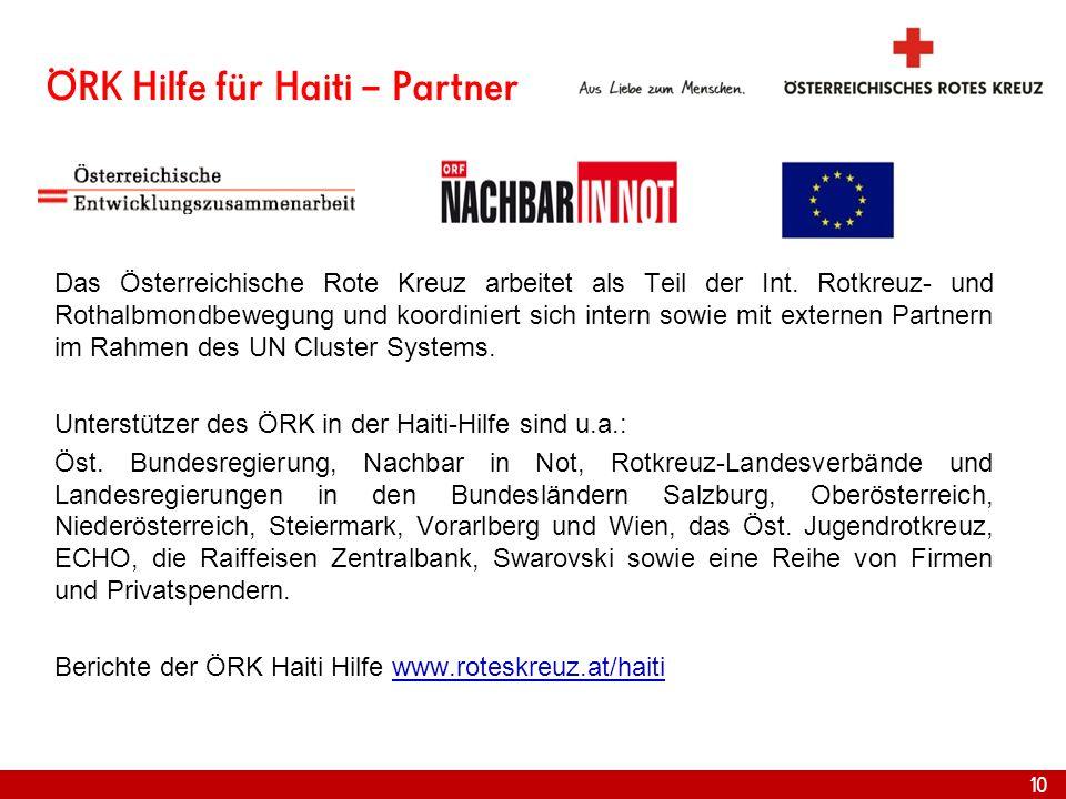 ÖRK Hilfe für Haiti – Partner