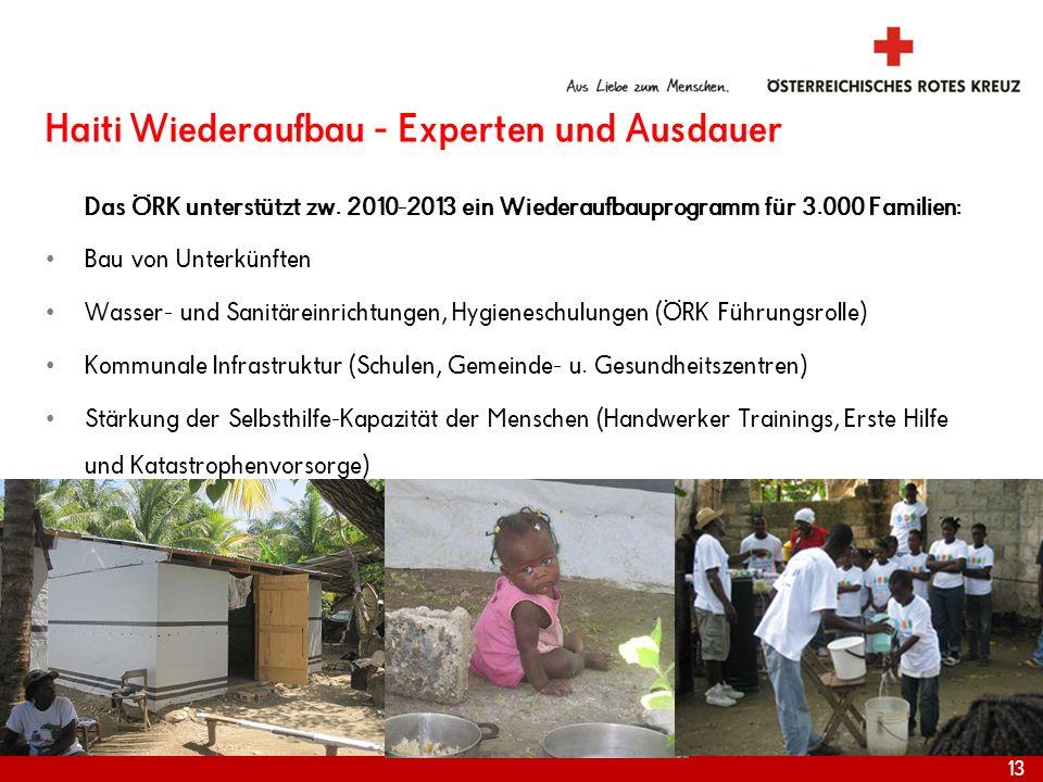 Haiti Wiederaufbau - Experten und Ausdauer