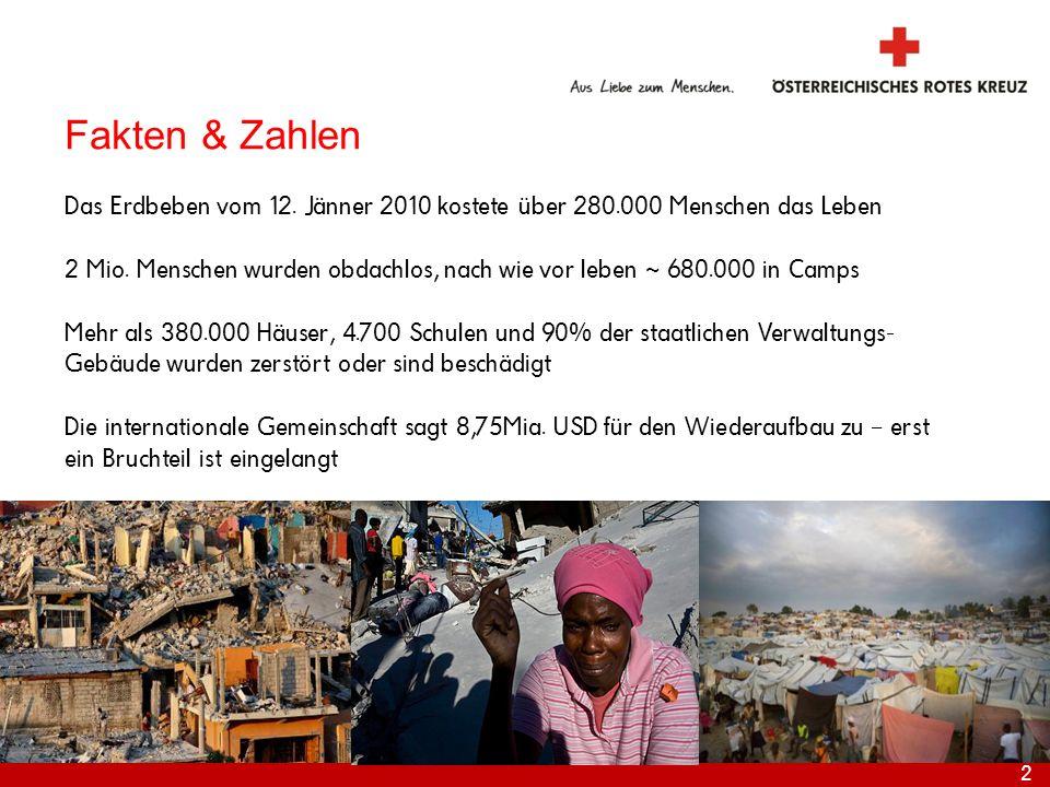 Fakten & Zahlen Das Erdbeben vom 12. Jänner 2010 kostete über 280.000 Menschen das Leben.