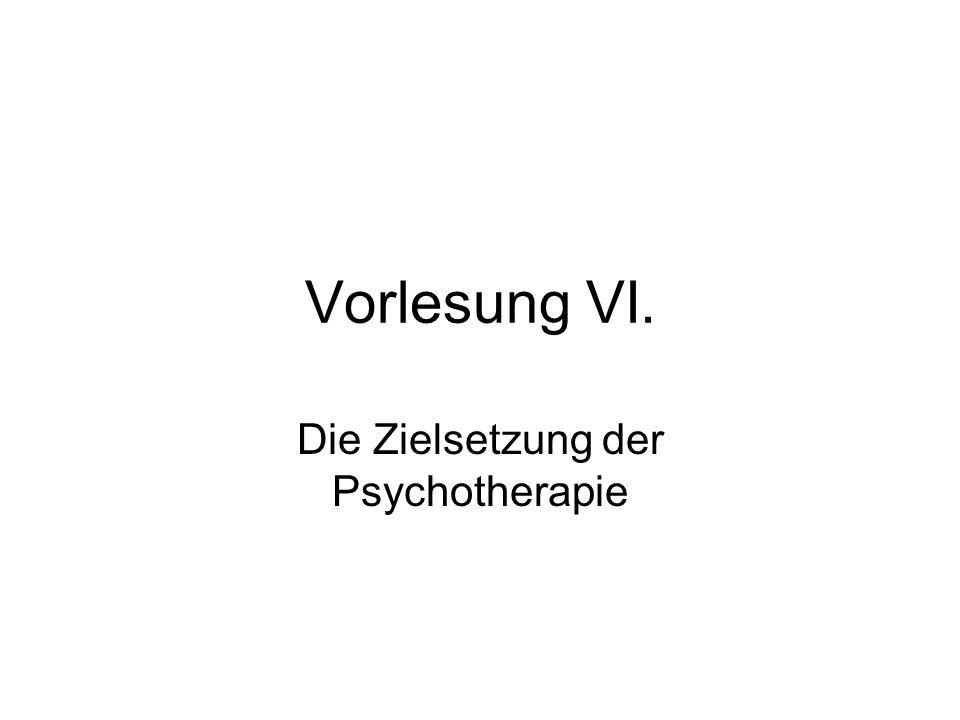 Die Zielsetzung der Psychotherapie