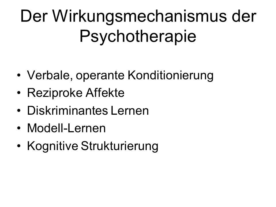 Der Wirkungsmechanismus der Psychotherapie