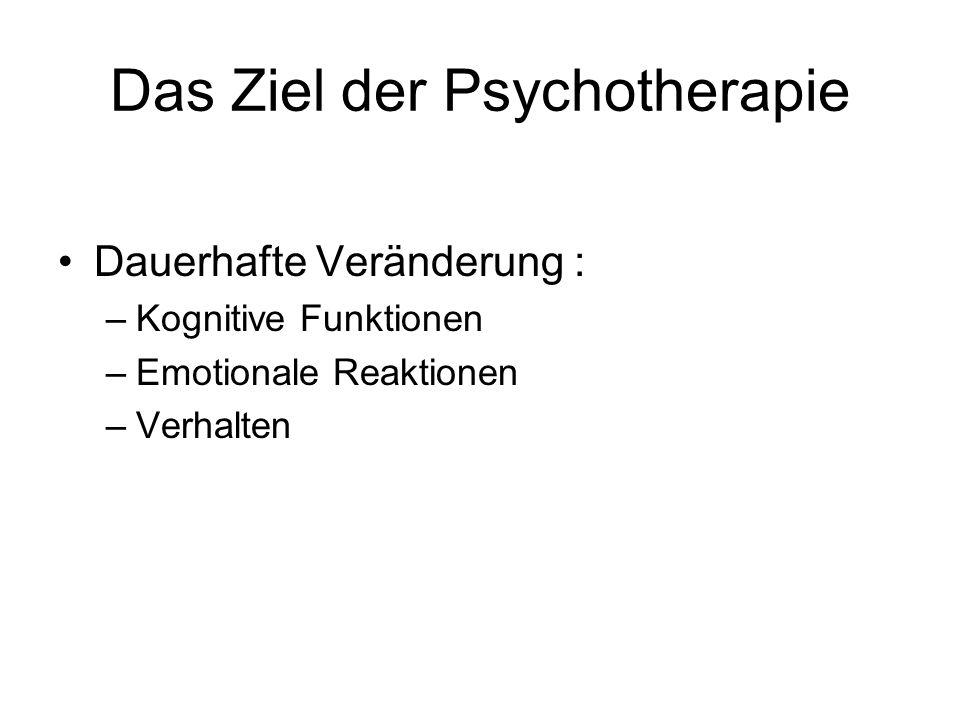 Das Ziel der Psychotherapie