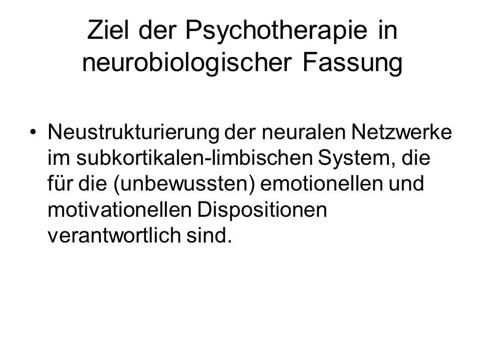 Ziel der Psychotherapie in neurobiologischer Fassung