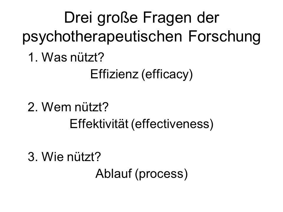 Drei große Fragen der psychotherapeutischen Forschung