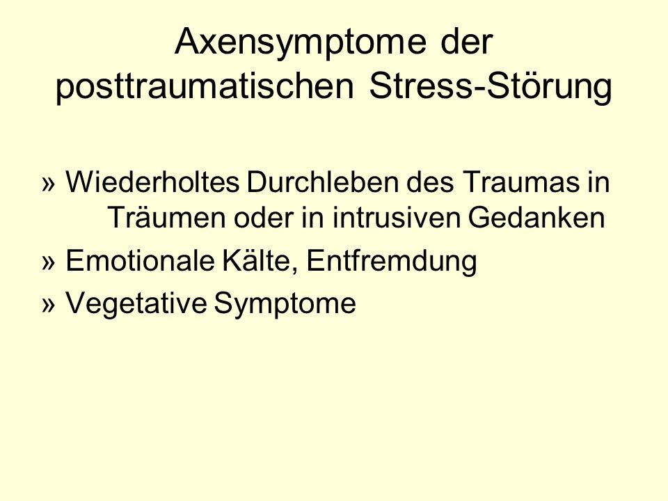 Axensymptome der posttraumatischen Stress-Störung