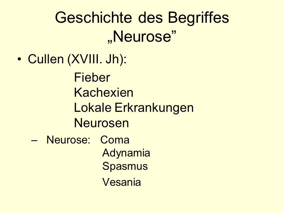 """Geschichte des Begriffes """"Neurose"""